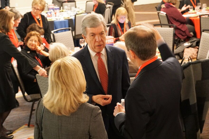 U.S. Sen. Roy Blunt talks with attendees of Lincoln Days on March 1, 2019.