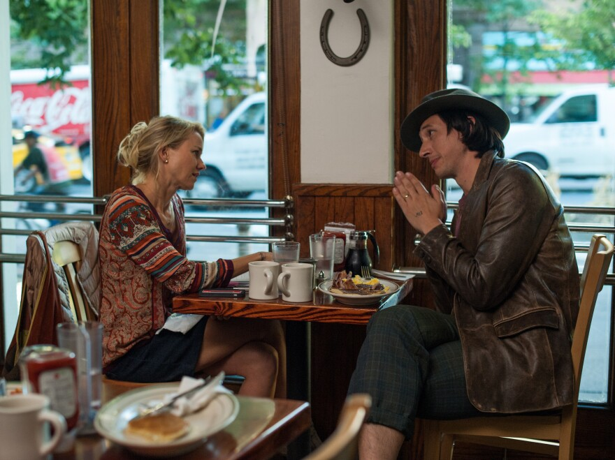 In <em>While We're Young</em>, Adam Driver plays a young filmmaker who befriends an older couple played by Naomi Watts (left) and Ben Stiller.
