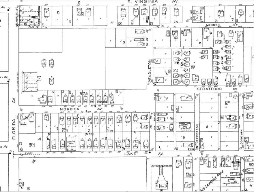 By 1931, Zion Cemetery, the large relatively empty space in the upper left, is no longer marked on Tampa city maps.