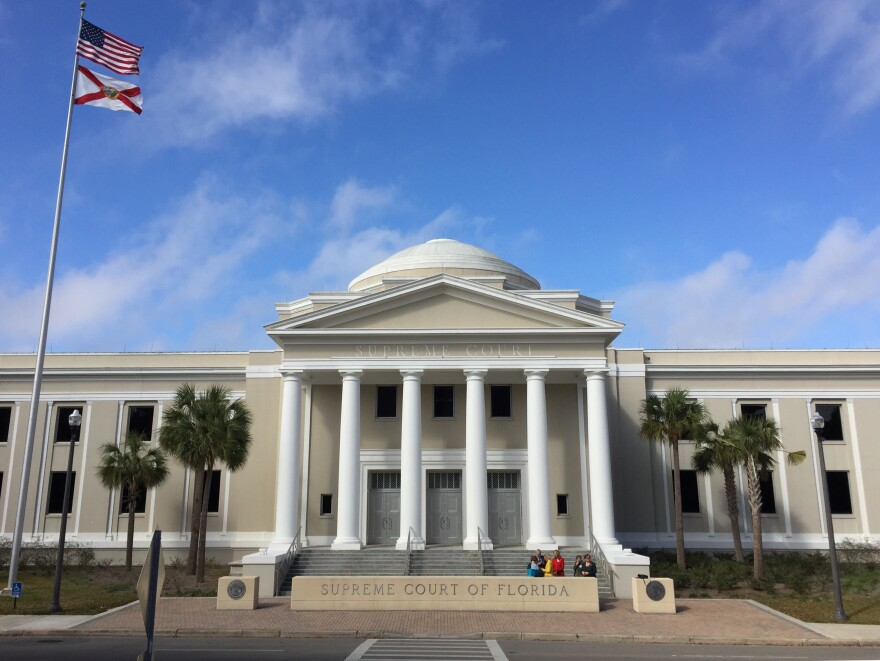 Florida Supreme Court building in front of blue sky