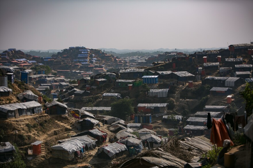 The camps for Rohingya in Bangladesh, including the Hakimpara camp (above), are now home to more than 650,000 refugees. This week the government is launching a plan to repatriate the Rohingya – if they are willing to go back to Myanmar.