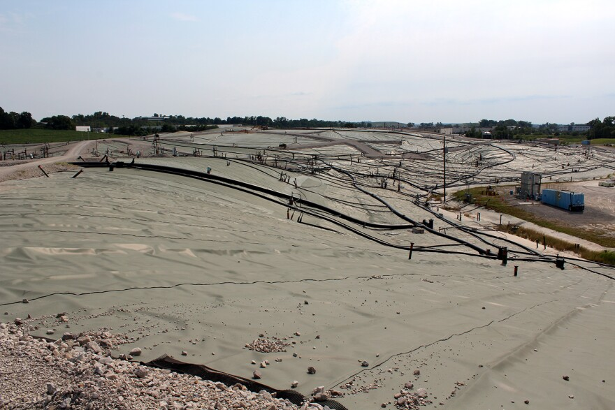 Landfill owner Republic Services has spent millions trying to contain the high-temperature underground reaction in the south quarry, where it began.