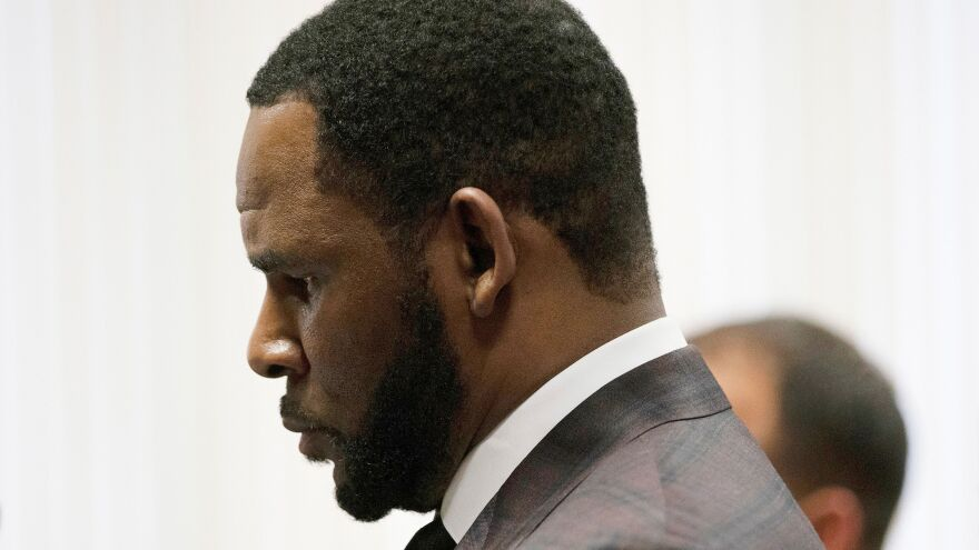 R. Kelly, photographed at a court hearing in Illinois on June 26, 2019.