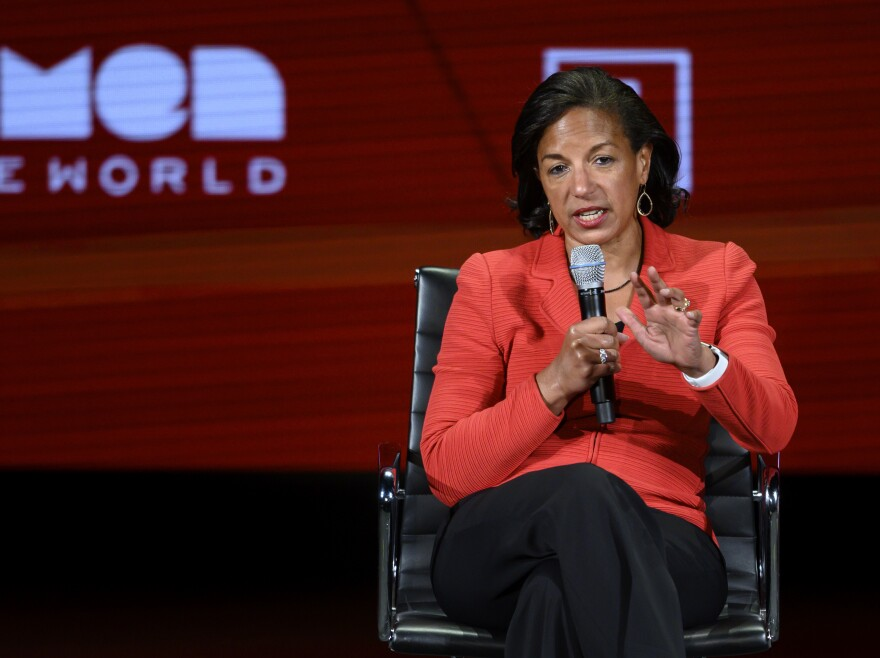 Former U.S. National Security Advisor Susan Rice, seen here at a 2019 Women in the World Summit in New York City, is Biden's pick to lead the White House Domestic Policy Council.