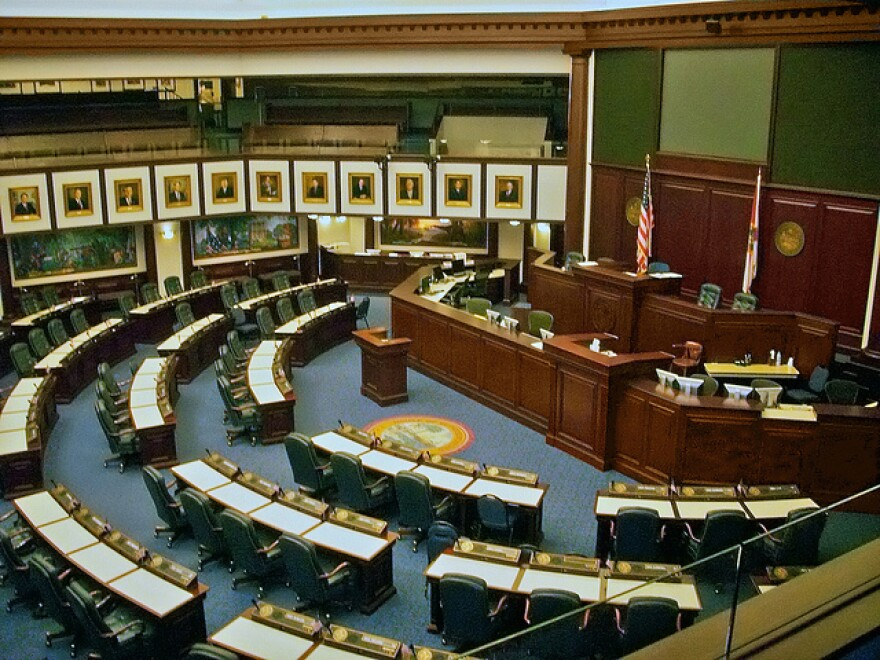 An undated photo of the House chamber in the state capitol.