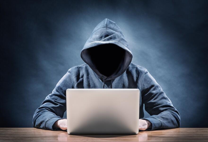 photo of hacker