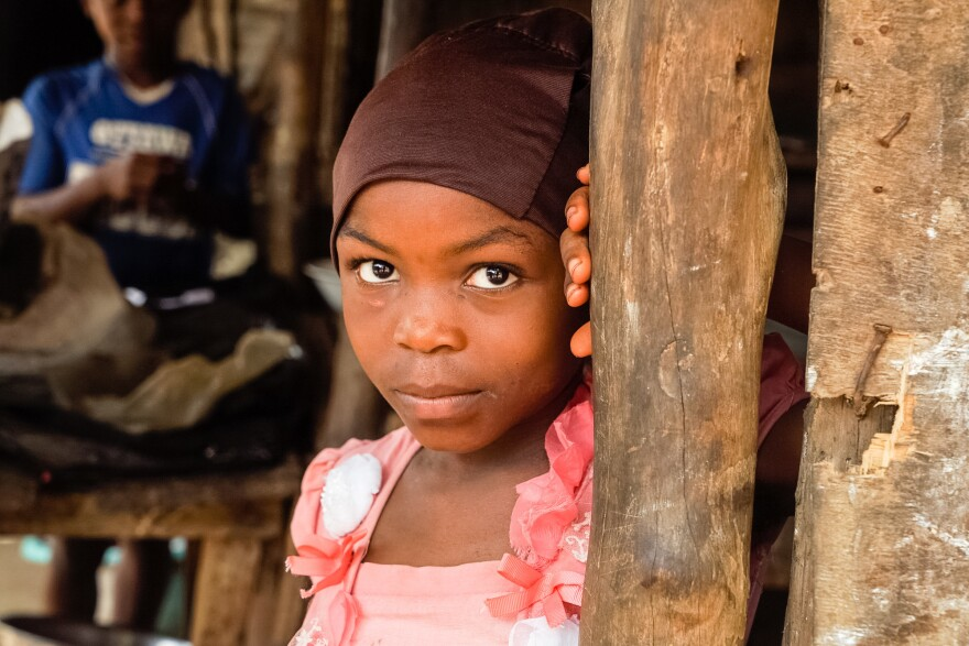 Kadija Shellu is now 7. She had not only Ebola, but malaria as well.