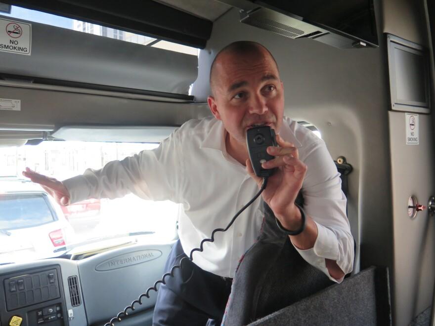 Real estate consultant Peter Zalewski operates bus tours for people interested in Miami's condo market.