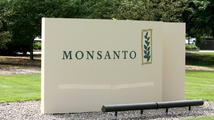 The sign at Monsanto headquarters in St. Louis.