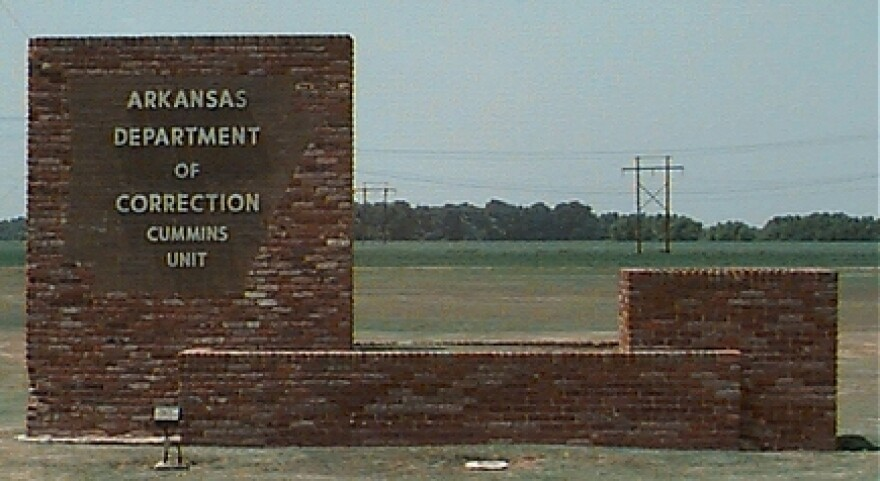Picture of the Cummins Unit sign of the Arkansas Department of Corrections.