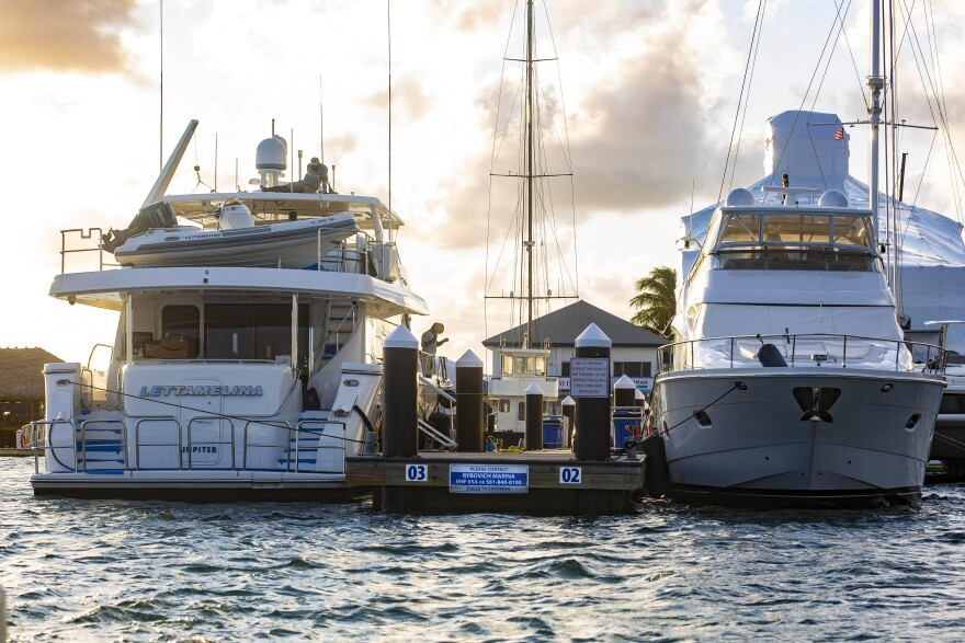 """Rybovich, which describes itself as a """"world renowned luxurious resort-style Superyacht marina,"""" can accommodate $100 million-plus yachts that stretch more than 300 feet. It offers an on-site concierge, tiki bar and yoga."""