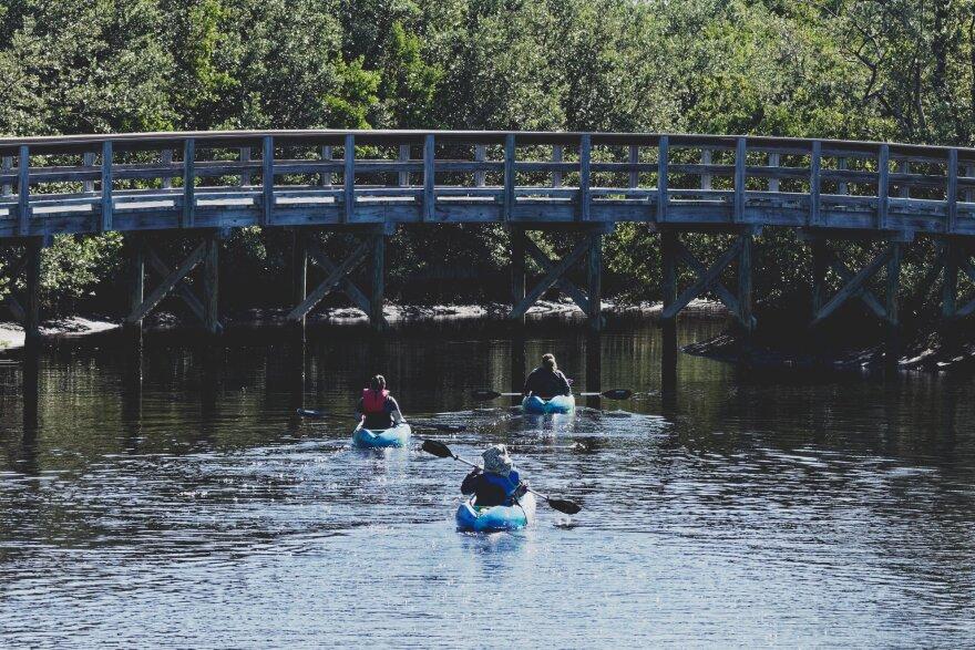 Kayakers at Robinson Preserve in Bradenton.