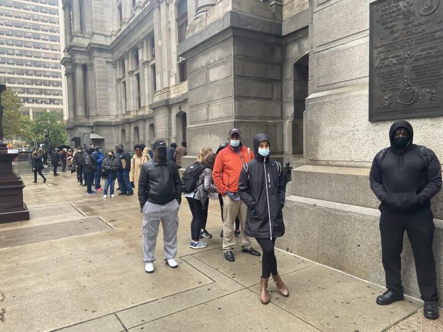 Voters in Philadelphia (Photo by Ciku Theuri)
