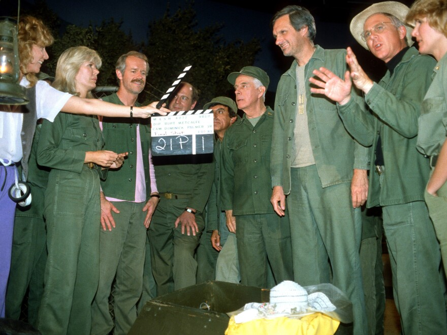 An image from the last episode of MASH on June 18, 1984 at the Malibu Creek State Park in California.