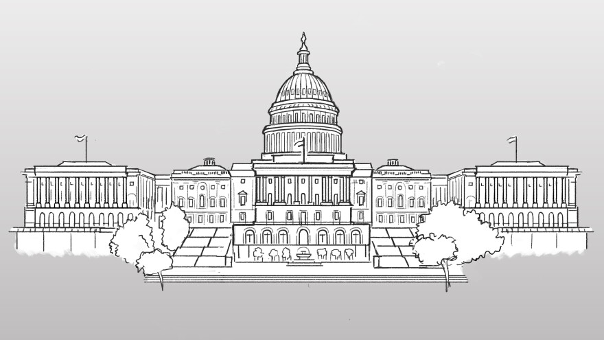 Illustration of U.S. Capitol.