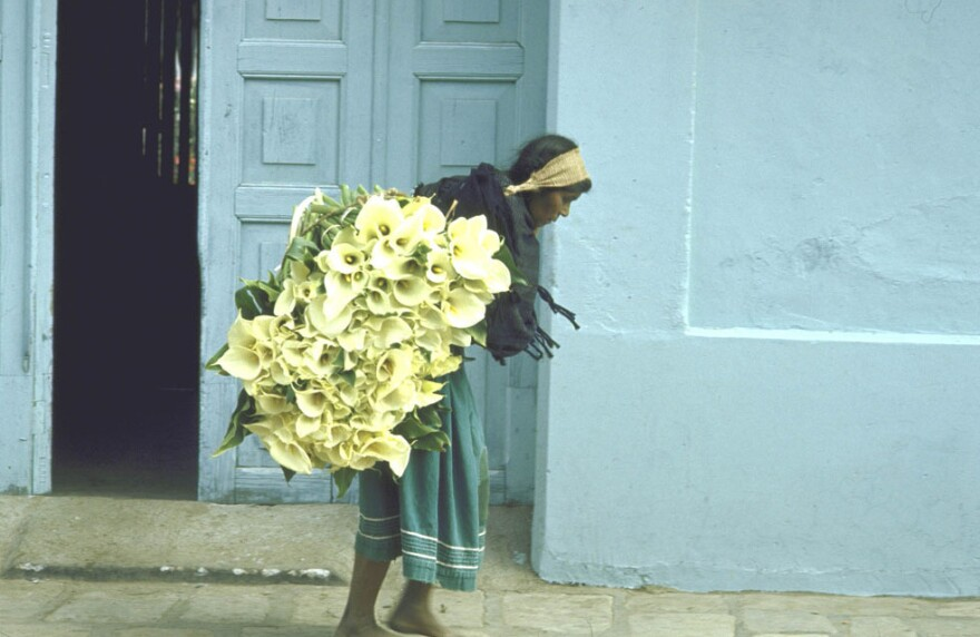 Girl with cala lilies, Mexico, 1951