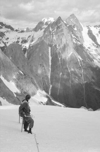 An image of a mountain climber found in the box of negatives Jodi Zybul won at an auction.