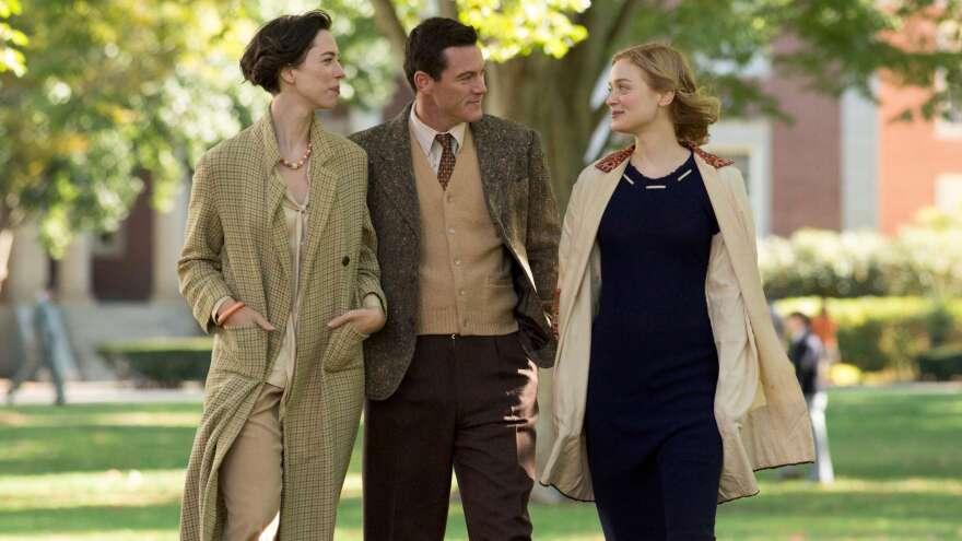 To The Wonder: Elizabeth (Rebecca Hall), Bill (Luke Evans) and Olive (Bella Heathcote) in <em>Professor Marston and the Wonder Women</em>.