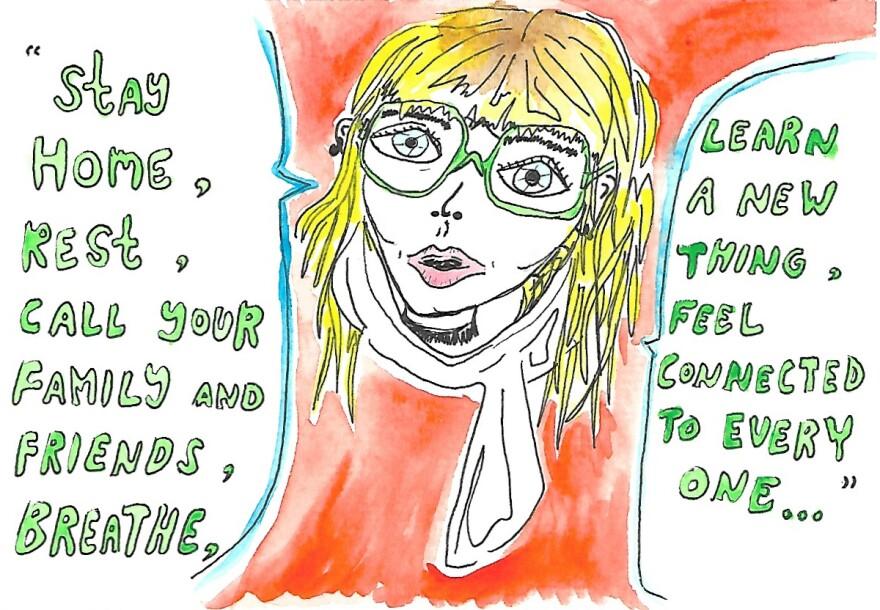 Self portrait by Liza Anne.