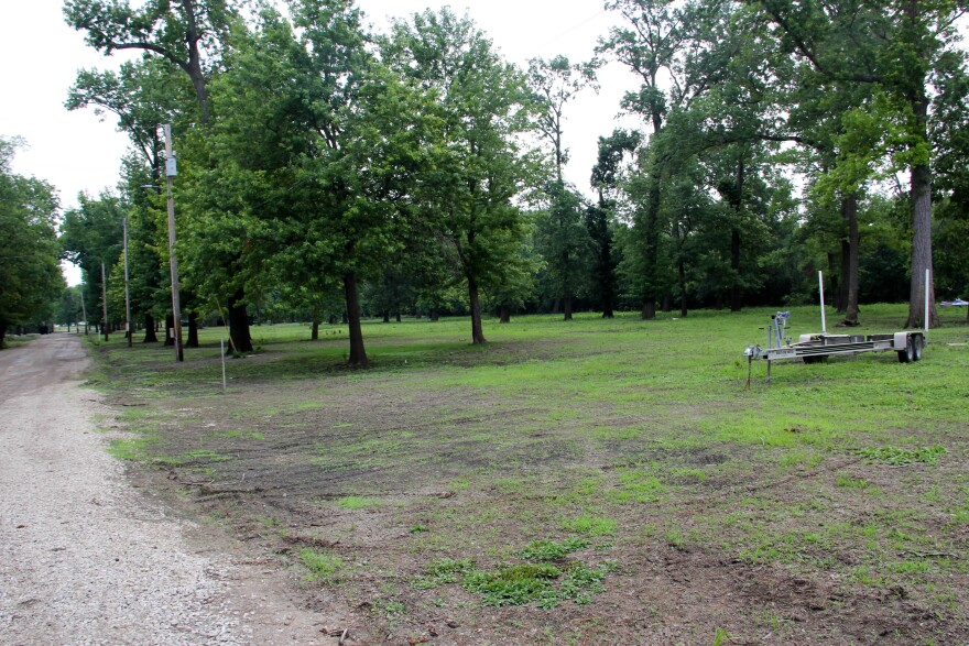 In St. Charles, lease agreements for buyout properties include strict rules on how the land is used. Luttrell, who leases this property along the Mississippi River, cannot build on the land or remove any trees.