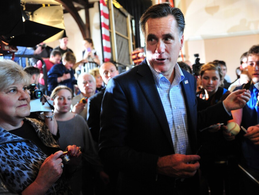 Mitt Romney greets supporters at a rally at Winthrop University in Rock Hill, S.C., on Wednesday.