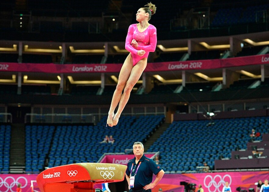 """It was really fun to get out there and do my vault,"" McKayla Maroney said, after trying out the apparatus at  the North Greenwich Arena in London Thursday. Maroney is coping with the lingering effects of a broken right toe."