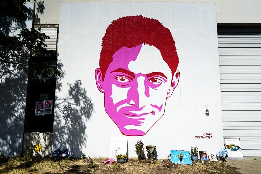 Photo of Chad Breinholt mural.