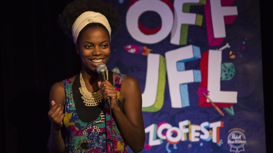<em></em>Sasheer Zamata performs at the Just For Laughs festival in Montreal.