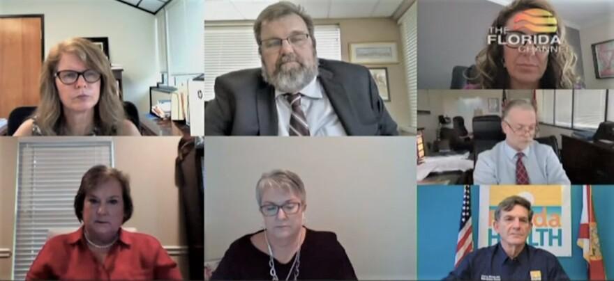 Image of Zoom meeting of nursing home task force