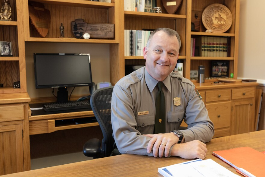 Yellowstone National Park Superintendent Cameron (Cam) Sholly in his office at Mammoth Hot Springs, November 2018.