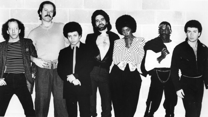 """Members of the disco group Lipps, Inc., including Steven Greenberg (far left), pose for a portrait in 1978. Greenberg, who wrote the group's hit """"Funkytown,"""" is seeking to reclaim the song's full copyright from Universal Music Group."""