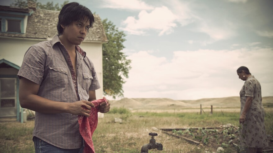 Chaske Spencer plays Virgil First Raise in the film adaptation of James Welch's <em>Winter in the Blood.</em>