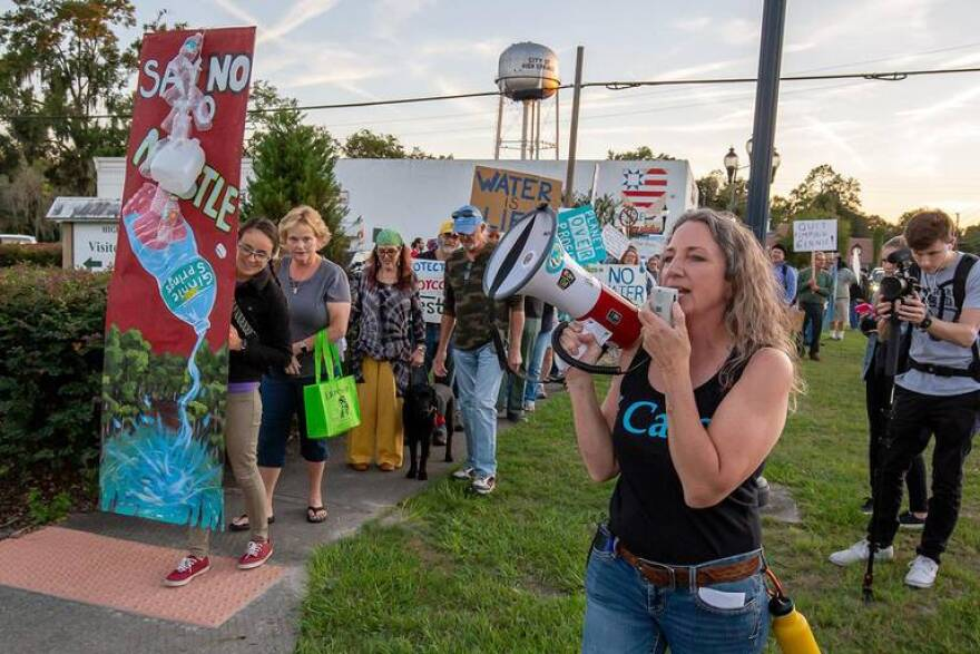 nestle protest.merrillee megaphone.jpg