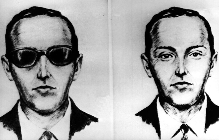 This undated artist' sketch shows the skyjacker known as D.B. Cooper from recollections of the passengers and crew of a Northwest Airlines jet he hijacked between Portland and Seattle on Thanksgiving eve in 1971.