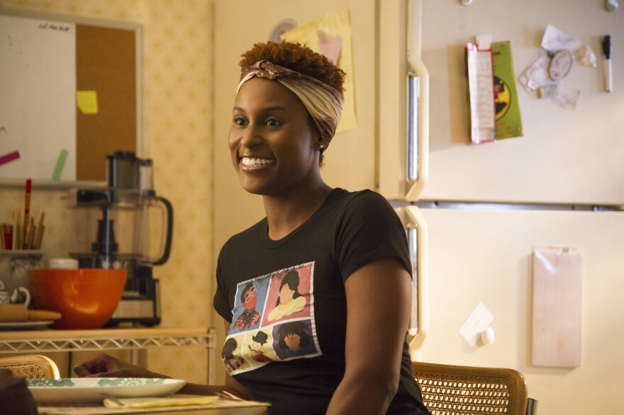 Issa Rae in a scene from HBO's <em>Insecure</em>. Rae was nominated Monday for a Golden Globe award for best actress in a musical or comedy series or motion picture made for TV.