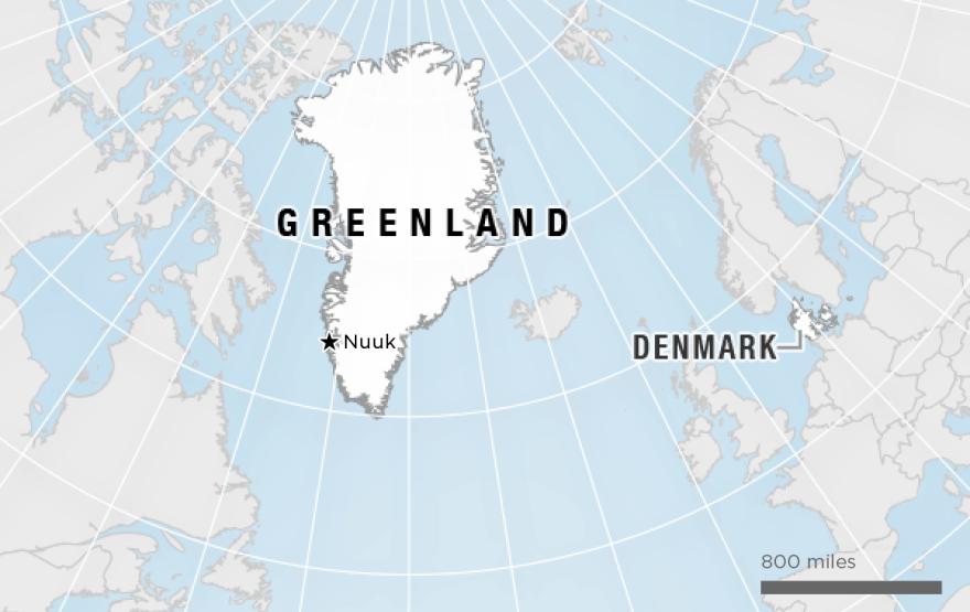 Map of Greenland