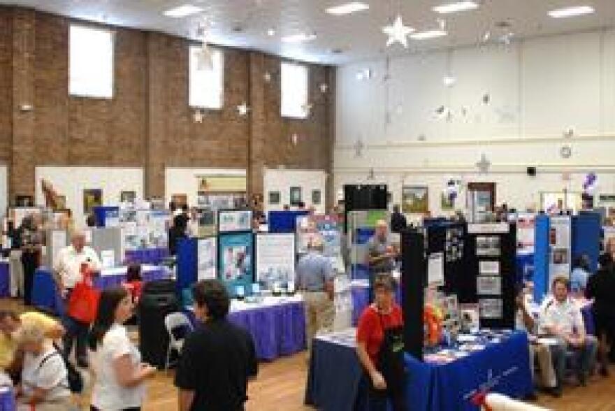 The Senior Center's second floor auditorium was full of Active Living Expo exhibitors.