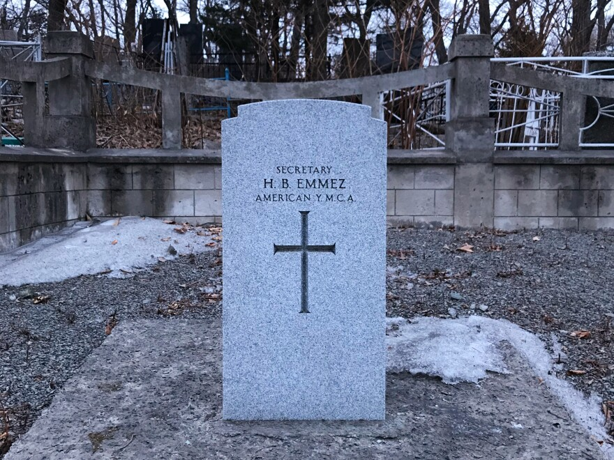 H. B. Emmez, a YMCA employee who took part in the U.S. intervention a century ago, is the only American buried in Vladivostok's Naval Cemetery.