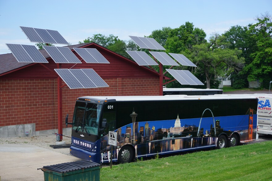 Missouri S&T is researching how residents and businesses like this bus depot in Rolla decide to use solar energy. 06-12-20