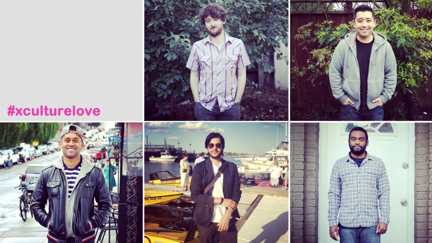 (From top center, clockwise) Nathan Gaar, Noah Cho, Carlton Purvis, Siddique Abbasi, Shehan Jayatilak