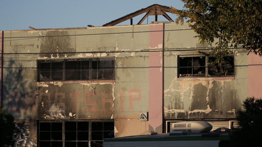 """""""Ghost Ship,"""" a warehouse and artist's space in the Fruitvale neighborhood of Oakland, Calif., burned down on Friday. It was the deadliest fire in Oakland history."""