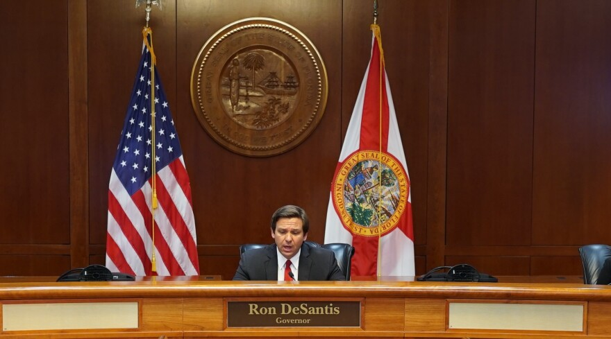 Gov. Ron DeSantis announced during today's press conference that he would like to open nursing homes back up so that families can visit their loved ones. However, he has not said when this will happen.