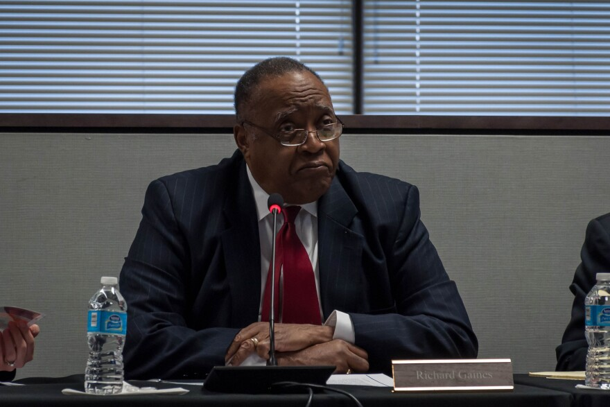 Richard Gaines, a member of the Special Administrative Board and chairman of the governance task force on the future control of St. Louis Public Schools, a meeting Wednesday, Jan. 17. 2018.