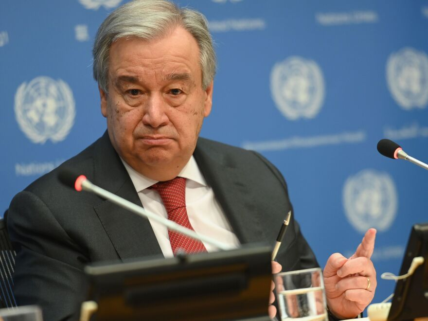 """Escalation is back,"" U.N. Secretary-General Antonio Guterres warned Tuesday. Laying out his goals for 2020, Guterres said he wants to break vicious dynamics and create a ""virtuous circle"" that leads to progress."