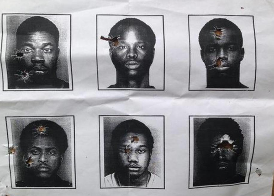 Photos of six black men North Miami Beach police used for target practice.