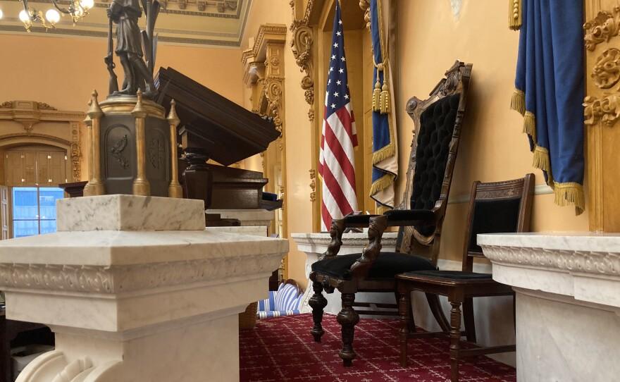 Empty chair of Ohio Senate President