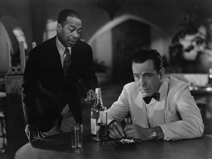 Emotion seemed to fuel plenty of sighs by Humphrey Bogart's character Rick (right) in the 1942 film classic <em>Casablanca, </em>and even Rick's good friend Sam, played by actor Dooley Wilson, couldn't console him.