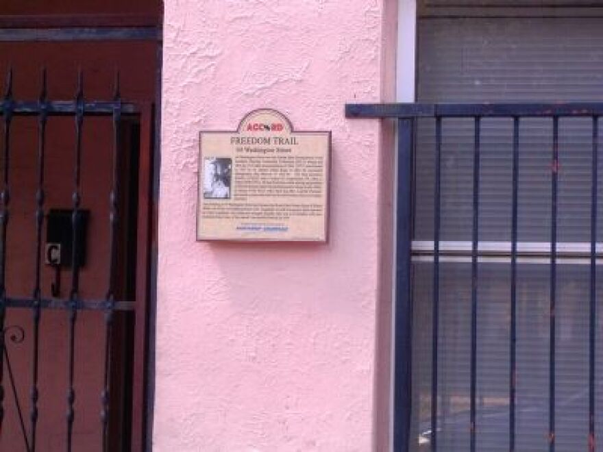 This historic marker at the former state headquarters of the Southern Christian Leadership Conference on Washington St. was apparently stolen a week or so ago.