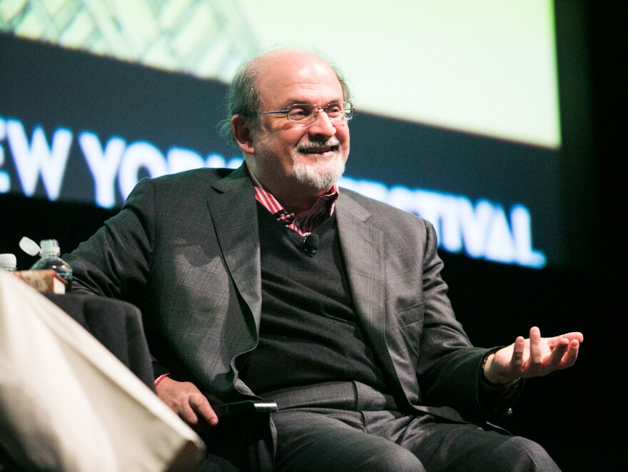 Author Salman Rushdie at The New Yorker Festival in New York on Oct. 7.