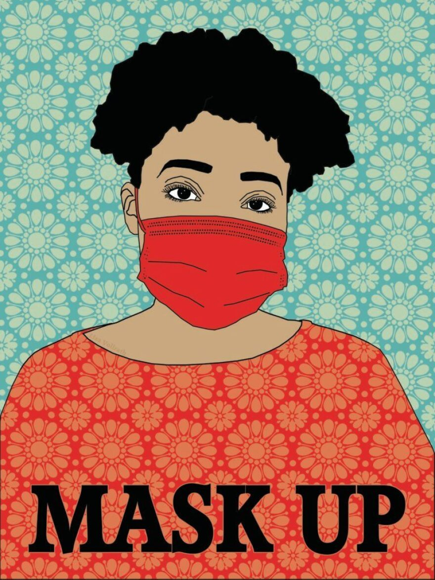 "A submission to Amplifier titled ""Mask Up."""